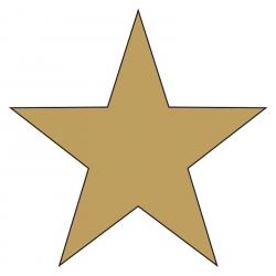 """Weihnachtsaufkleber """"Stern"""" gold glänzend"""