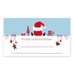 """Weihnachtsaufkleber """"Frohe Weihnachten sitzender Weihnachtsmann"""""""