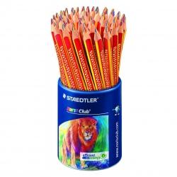 Staedtler® Farbstift Noris Club®, 4 mm, gelb/rot/blau, Köcher mit 50 Stiften