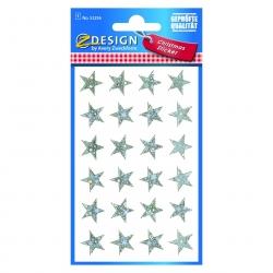 Avery Zweckform® Z-Design 52256, Weihnachtssticker, Sterne, 1 Bogen/24 Sticker