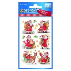 Avery Zweckform® Z-Design 52402, Weihnachtssticker, Weihnachtsmänner, 2 Bogen/18 Sticker