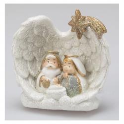 Krippenfiguren Heilige Familie - 6 cm, Glitter SG-11