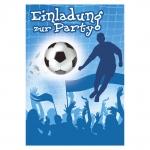"""Komma³ Einladung Party """"Fussball blau"""" 8 Stück"""
