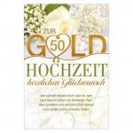 """Goldhochzeitskarte Text """"Wie schnell vergeht doch Jahr für Jahr…"""" - geprägt"""