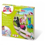 "Staedtler® Modelliermasse FIMO® Kids Materialpackung Form & Play ""Pony"", 4 x 42 g"