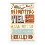 Horn Geburtstagskarte - Vintage