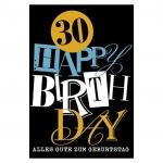 Horn Geburtstagskarte - Zahl, 30 Jahre