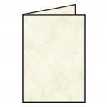 Rössler Papier Coloretti Doppelkarte - B6 hoch, 5 Stück, sandgelb