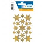 Herma 3902 Sticker DECOR Sterne 6-zackig, gold, Holographie