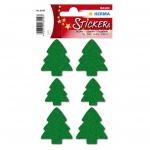 Herma 6549 Sticker MAGIC Weihnachtsbäume, Filz