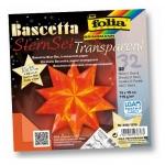 Folia Bascetta Stern - orange, transparent, Ø 20 cm
