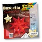 Folia Bascetta Stern - rot, transparent, Ø 20 cm