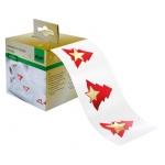 """Sigel® Weihnachts-Sticker """"Red Trees"""" - 200 Sticker, Rolle"""
