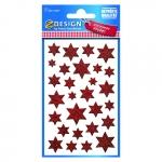 Avery Zweckform® Z-Design 52277, Weihnachtssticker, Sterne, 1 Bogen/28 Sticker