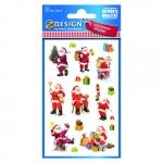 Avery Zweckform® Z-Design 52624, Weihnachtssticker, Weihnachtsmänner, 2 Bogen/30 Sticker