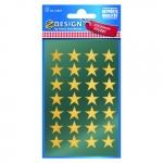 Avery Zweckform® Z-Design 52800, Weihnachtssticker, Sterne, 2 Bogen/56 Sticker