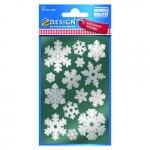Avery Zweckform® Z-Design 52813, Weihnachtssticker, Schneeflocken, 2 Bogen/28 Sticker