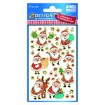 Avery Zweckform® Z-Design 52875, Weihnachtssticker, Nikolaus, 1 Bogen/31 Sticker