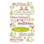 Avery Zweckform® Z-Design 52876, Weihnachtssticker, Schriftzüge, 1 Bogen/17 Sticker
