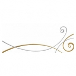 "Kurt Eulzer Druck Tischkarte ""Ornamente silber/gold"" - 6 Stück"
