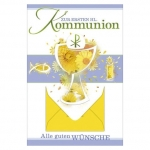 Kommunionskarte mit Geldscheinfach - inkl. Umschlag 12-107800