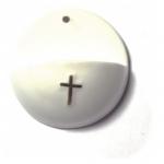 Weihwasserkessel - Porzellan, weiß, 7 cm