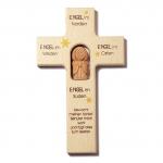 """Kinderkreuz """"…und bewach meinen Schlaf"""" - Holz, 20 cm"""