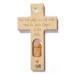 """Kinderkreuz  """"wo ich gehe…"""" - Holz, 20 cm"""