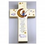 """Kinderkreuz  """"Lieber Gott nun schlaf ich ein…"""" - Holz, 20 cm"""