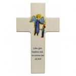 Kinderkreuz Engel + Emil - Holz, 20 cm