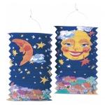 amscan Laterne Sonne & Mond - 28 cm