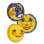 amscan Laterne Sonne & Mond - Ø 25 cm, sortiert 2025