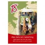 Kurt Eulzer Druck Geburtstagskarte - Zahl 18 52-1918