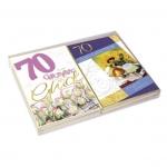 Kurt Eulzer Druck Geburtstagskarte - Zahl 70, 20 Stück, sortiert