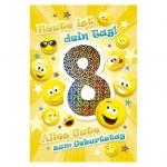 Kurt Eulzer Druck Geburtstagskarte Kinder Zahl 8