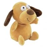 Plüschtier Laber Hund - 18 cm, inkl. 3x AAA Batterien
