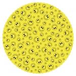 Tortenunterlage Grinsis - Ø 27 cm, gelb, abwischbar