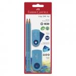 FABER-CASTELL Bleistift-Set Sleeve Trend - blau, 4-tlg.