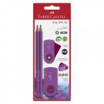 FABER-CASTELL Bleistift-Set Sleeve Trend - pink, 4-tlg.