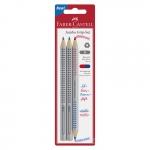 FABER-CASTELL Bleistift-Set Jumbo Grip + Zweifarbstift - wasservermalbar, 3-tlg.