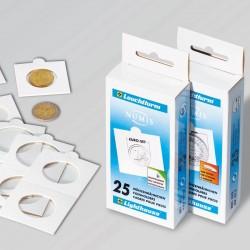M�nzr�hmchen zum Heften, f�r M�nzen bis 35 mm � 25er-Pack