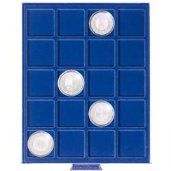 Münzbox klein mit 20 eckigen Fächern bis 41 mm ø