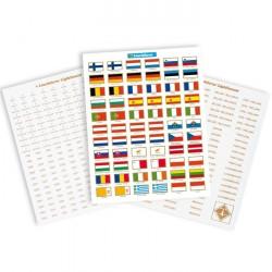 Sticker-Set für Euro-Münzen