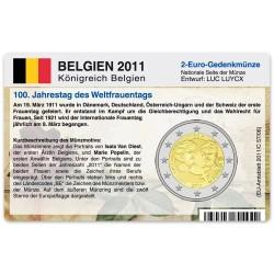 M�nzkarte f�r 2-Euro Gedenkm�nze Belgien 2011