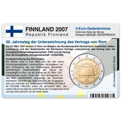 Münzkarte für 2-Euro Gemeinschaftsmünze Finnland 2007