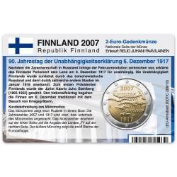 Münzkarte für 2-Euro Gedenkmünze Finnland 2007