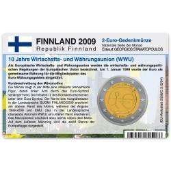 Münzkarte für 2-Euro Gemeinschaftsmünze Finnland 2009