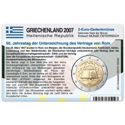 Münzkarte für 2-Euro Gemeinschaftsmünze Griechenland 2007