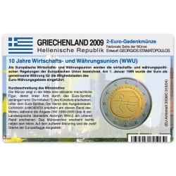 Münzkarte (ohne Münze) für 2-Euro Gemeinschaftsmünze Griechenland 2009