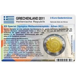 Münzkarte (ohne Münze) für 2-Euro Gedenkmünze Griechenland 2011